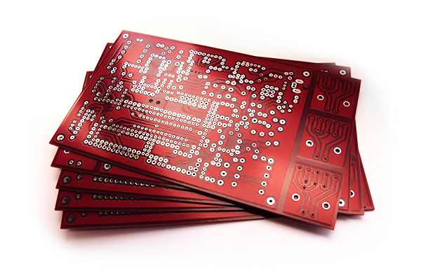 red PCB prototype