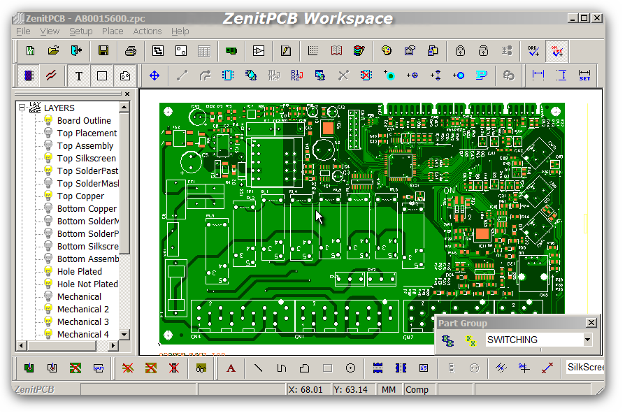 PCB Design Resource: ZenitPCB Free Layout Software – Printed Circuit ...