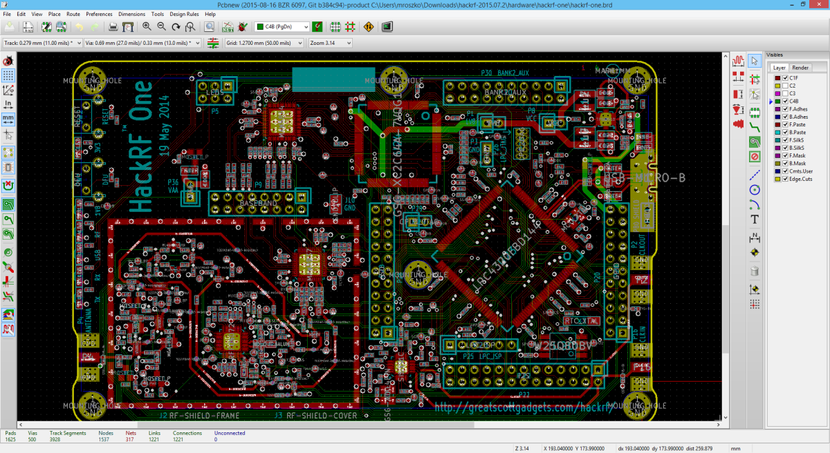 pcb design resource kicad free layout software printed. Black Bedroom Furniture Sets. Home Design Ideas