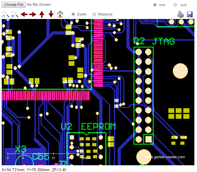 PCB Prototype Gerber File Viewer
