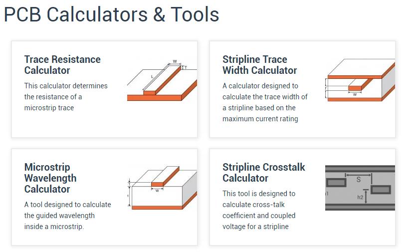 AllAboutCircuits com's Helpful (FREE) PCB Design Calculators