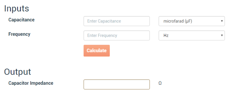 pcb prototyping capacitor impedance calculator