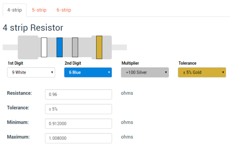PCB prototyping Resistor Calculator