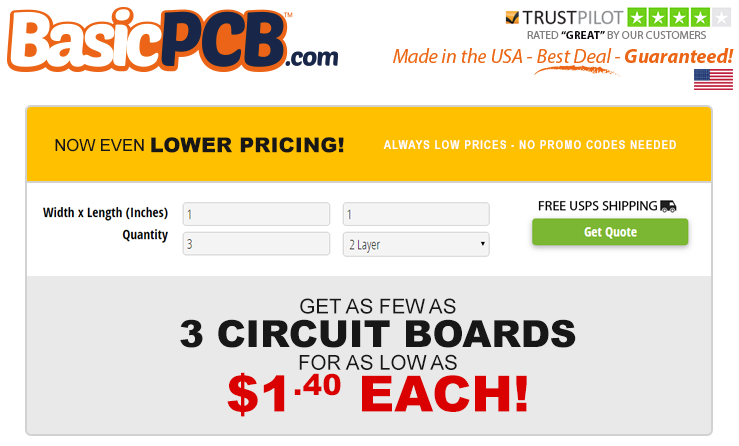 NEW! Now Even Lower Pricing On Our U S A  Made Circuit